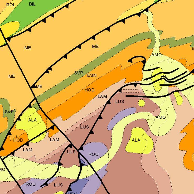 Carte géologique de la Wallonie