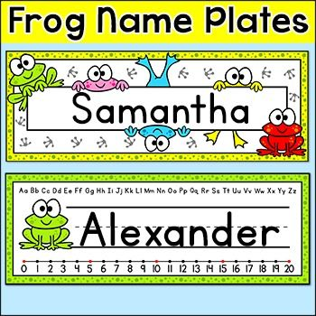 These fun frog theme name plates will look fantastic on students desks! You can either write the students names by hand or edit the included PowerPoint file.BUNDLE DISCOUNT! This product can be purchased at a great discount as part of my Frog Theme Decor Bundle.This product includes two name plate designs.