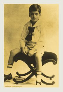 Young Master Laurence Olivier at 8 years of age.