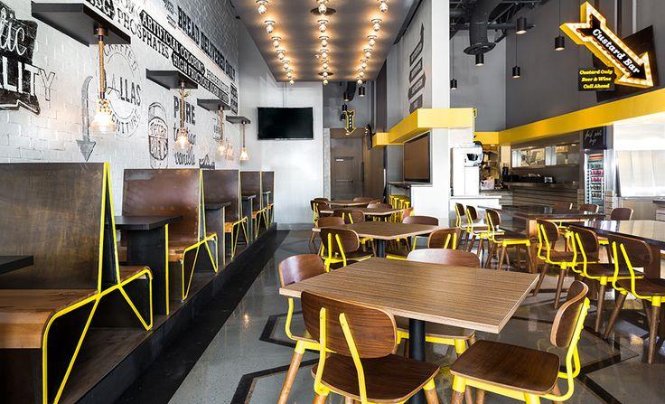 Super Chix, a fast-casual concept restaurant. #vivid #neon #custard