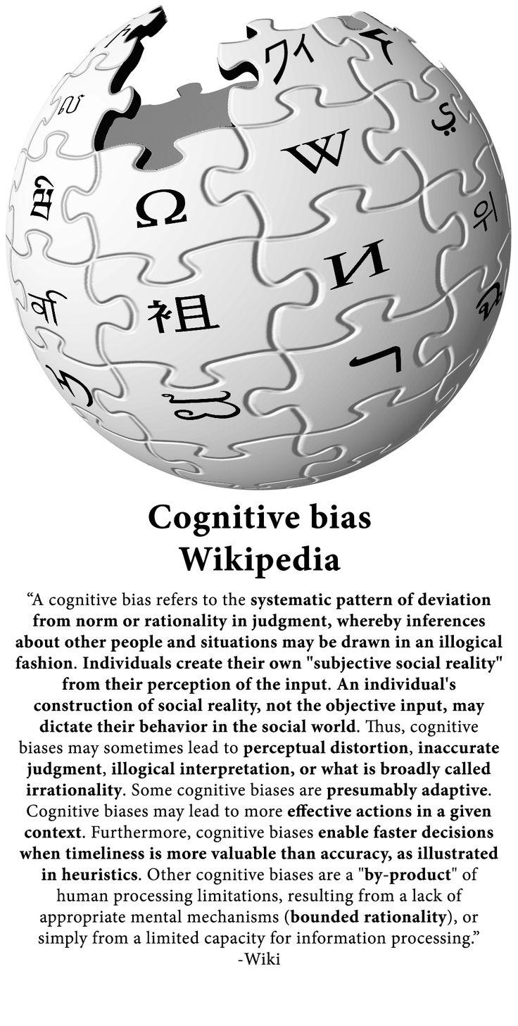Cognitive Bias - Wikipedia