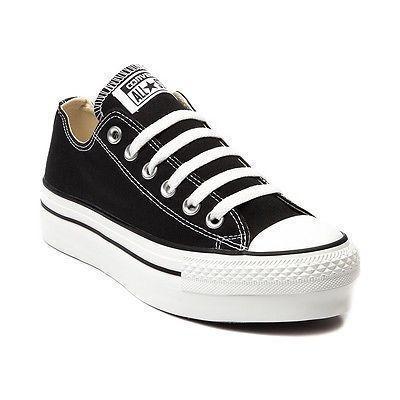 on sale 811d0 f323b Nuevo-mujeres-Converse-All-Star-Lo-Zapatillas-De-Plataforma-Negro-para-Mujer -Hombre-Calzado-II