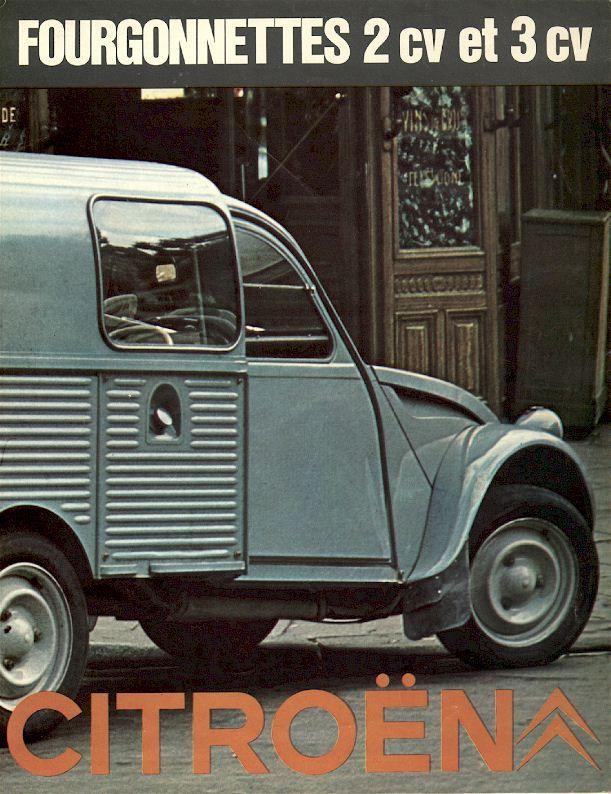 Citroën 2CV & 3CV Fourgonnettes brochure