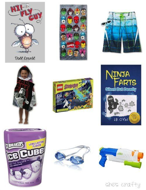 Easter basket ideas for young boy! Also includes ideas for
