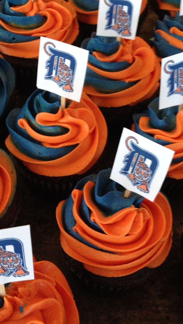 Detroit Tiger Cupcakes