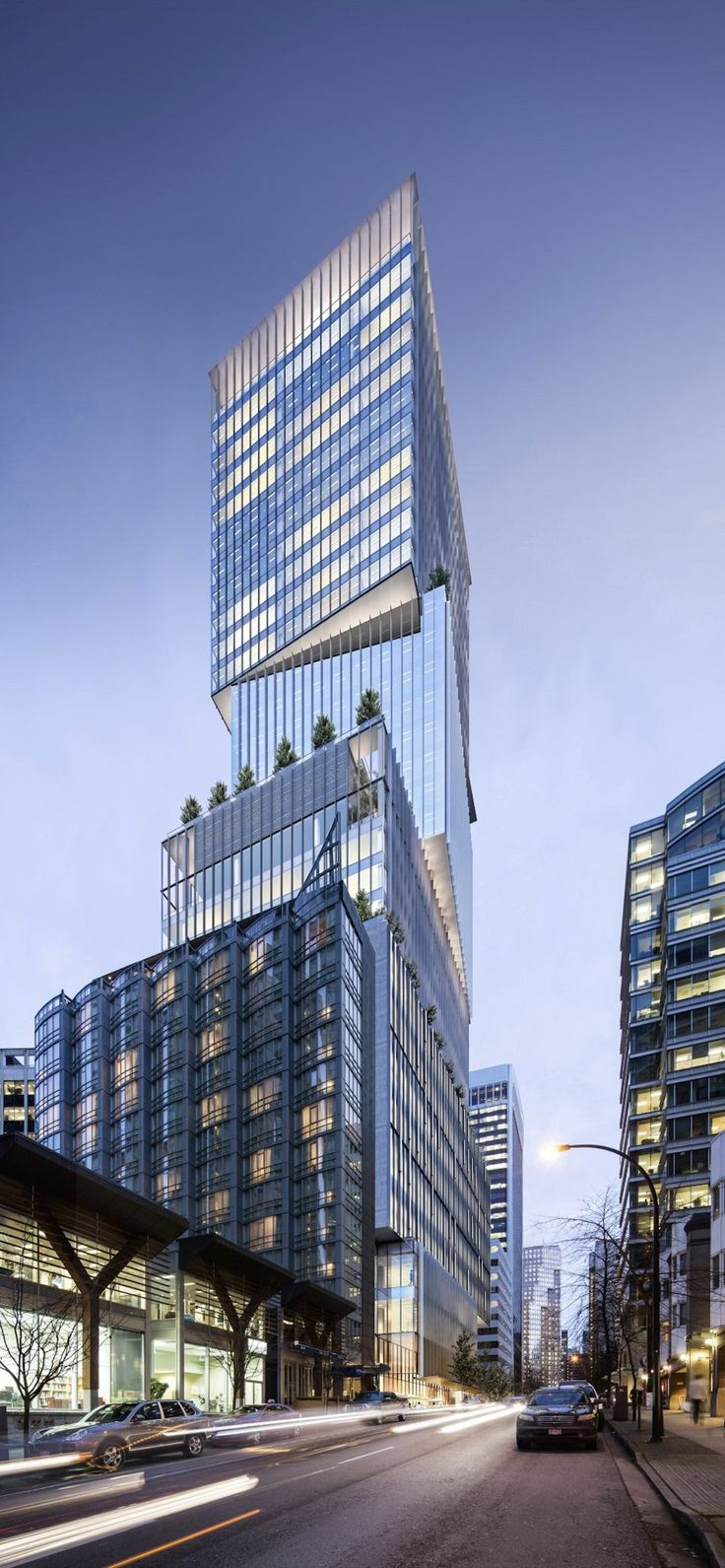 550-foot-tall 'stacked box' office tower proposed for downtown Vancouver | Daily Hive Vancouver