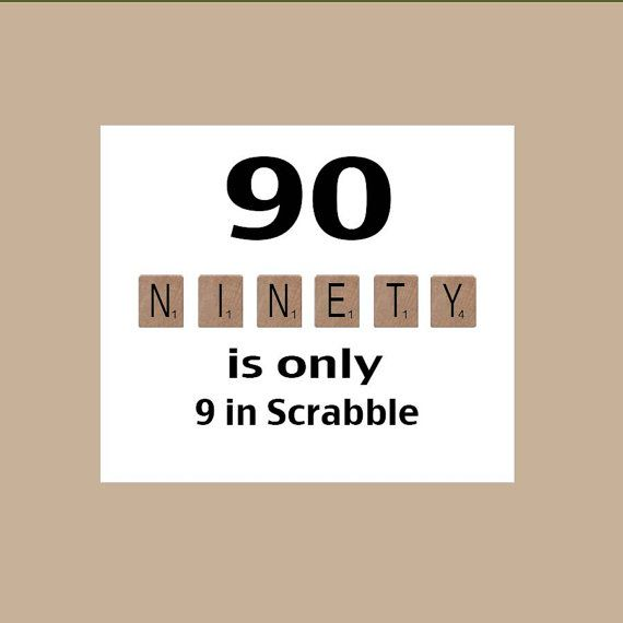 90th Birthday Card Milestone The Big 90 Scrabble 1929 Party Decorations