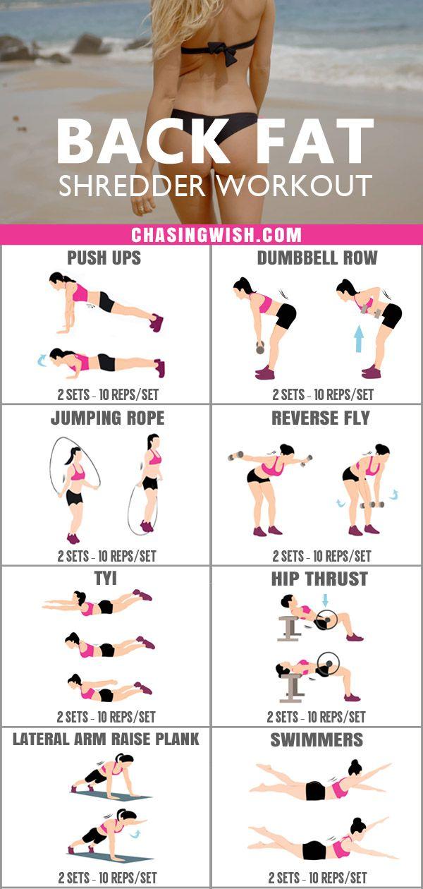 Intense Back Fat Shredder Workout For Women At Home