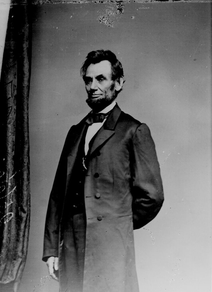 Lincoln, Abraham; three-quarter-length, standing, ca. 1863. Photographed by Mathew B. Brady 111-B-3656. (civil_war_188.jpg)