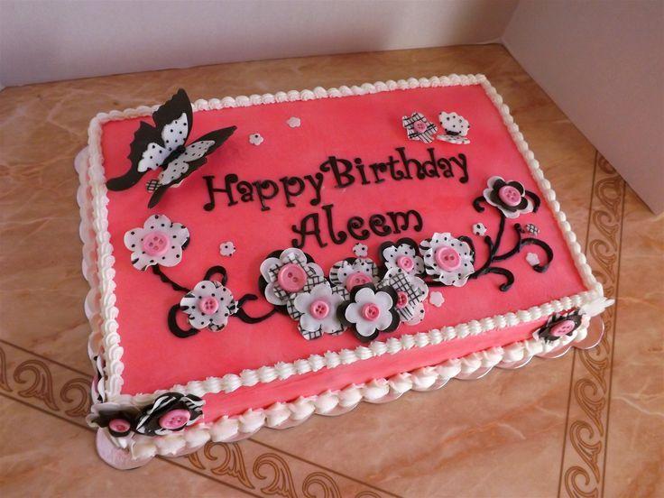 Geburtstags-Blatt-Kuchen – Blatt-Kuchen   – Cakes