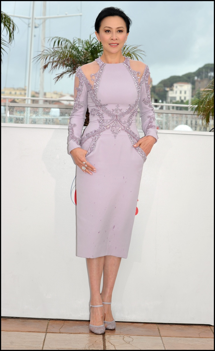 Carina Lau wears ELIE SAAB Haute Couture Spring Summer 2013 to the photo-call for 'Bends' at The 66th Annual Cannes Film Festival.