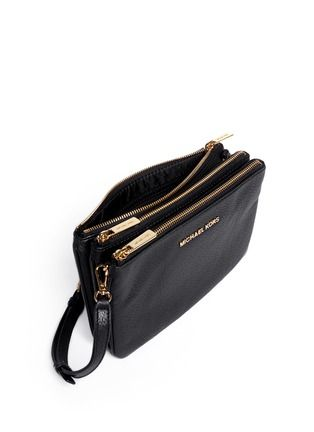 MICHAEL MICHAEL KORS - Bedford gusset leather cross-body bag | Black Day Shoulder Bags | Womenswear | Lane Crawford