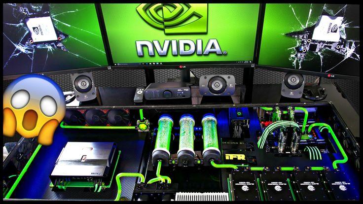 ULTIMATE 2017 DIY Custom Desk PC Mod Setup Tour – Water Cooled Gaming Co…