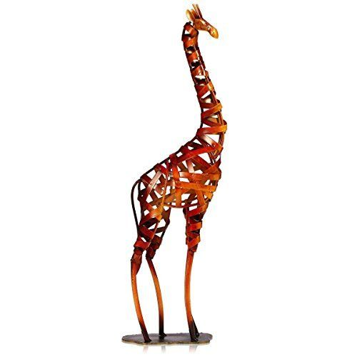 Amazoncom Wood Statues 3 Foot Tall Hand Carved Wooden Giraffe
