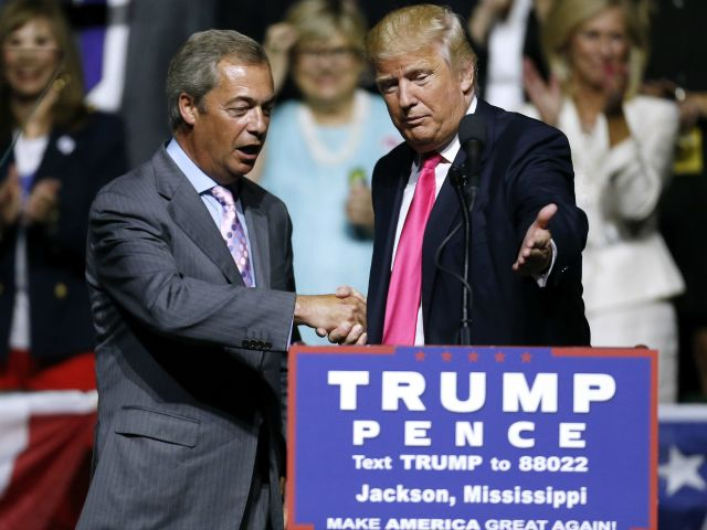 Jonathan Bachman/Getty   by Oliver JJ Lane24 Sep 20170 24 Sep, 201724 Sep, 2017  Nigel Farage — the man behind Britain's anti-establishment Brexit vote and an early supporter of President Donald Trump during his campaign for election will stand behindAlabama Republican...