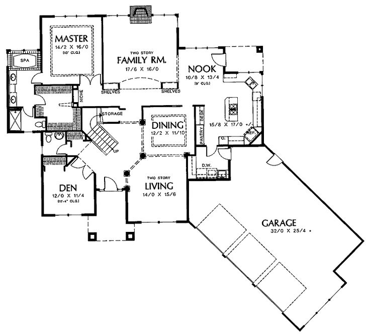 Floor Plans Aflfpw01414 2 Story New American Home With 3