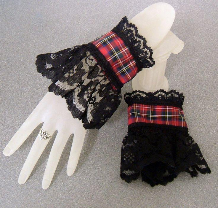 Tartan Lace Wrist Cuffs