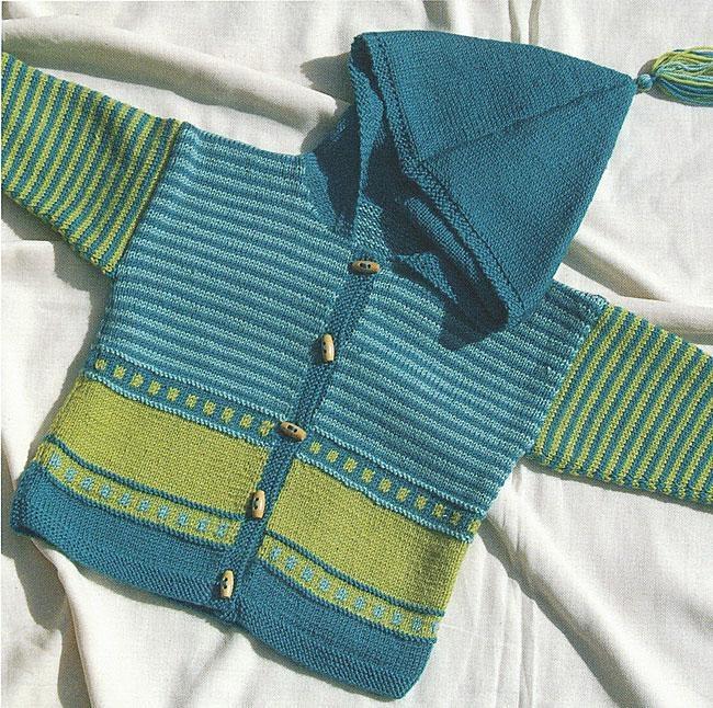 Flower-power trøje, strikket i Trunte (Hjertegarn)