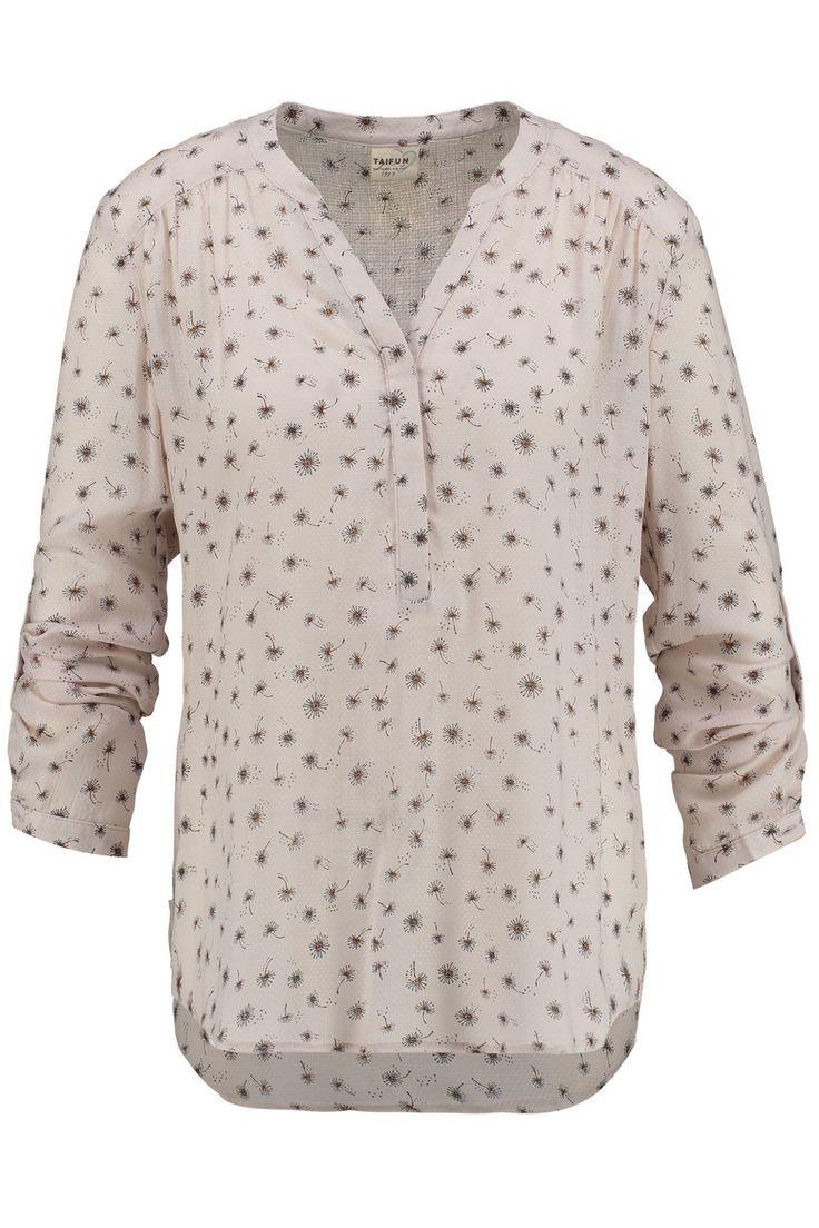 turn-up blouse met bloemen dessin