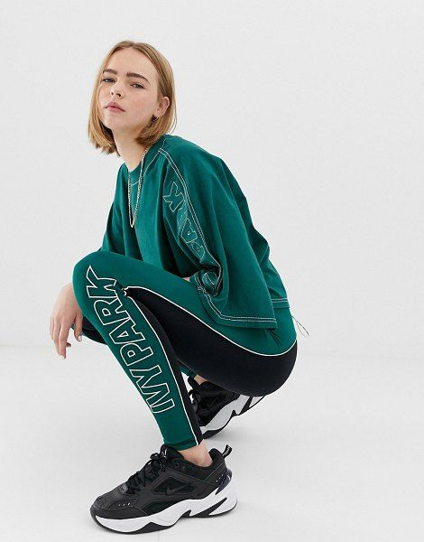 Image result for Ivy Park Active Colourblock Leggings In Green