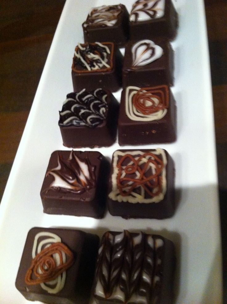 Bonbons met walnotenvulling