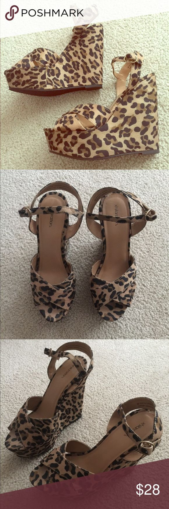 Leopard Wedges Leopard Wedges from target. Worn twice. Size 9.5. They are too cute and need a new home :) Mossimo Supply Co Shoes Wedges