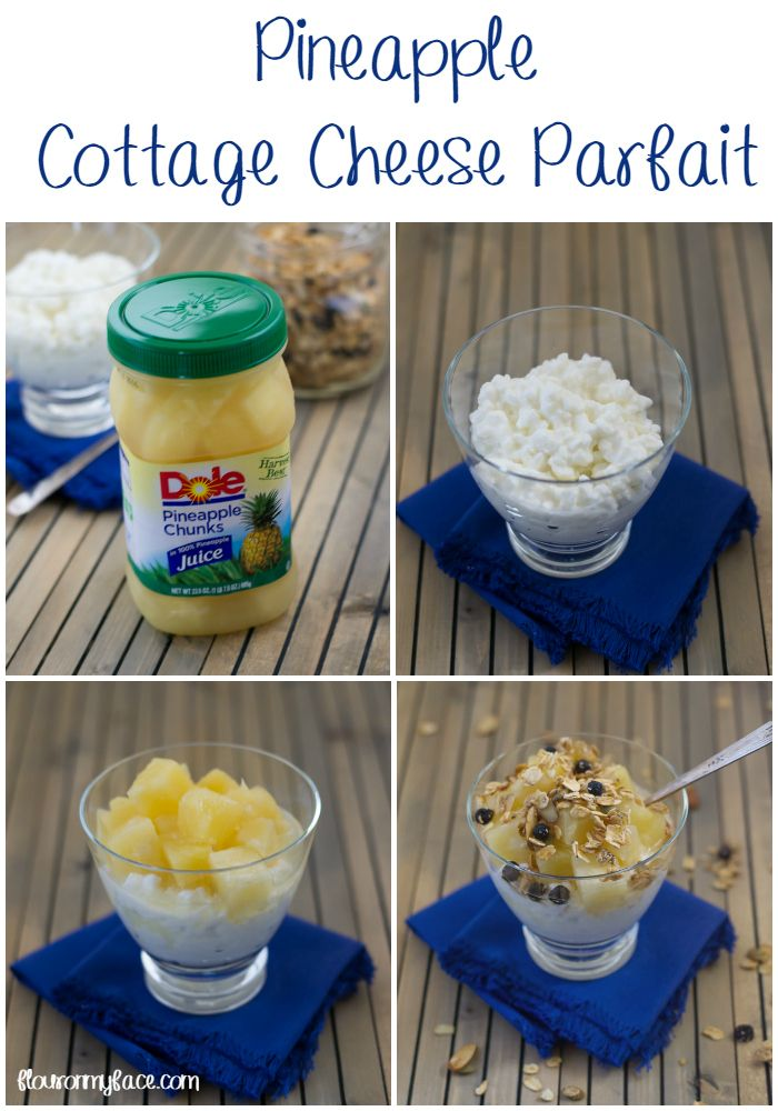 AD- Healthy snacks are easy as 1-2-3 with DOLEJarredFruit Pineapple Cottage Cheese Parfait via flouronmyface.com