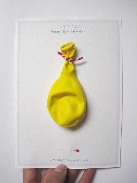 This is great - ballon invitation where you get more information by inflating and popping the balloon...