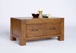 Santana Rustic Oak 2 Drawer Coffee Table is rustic and full of character and is made using reclaimed oak. More details: http://solidwoodfurniture.co/product-details-oak-furnitures-5302-santana-rustic-oak-drawer-coffee-table.html