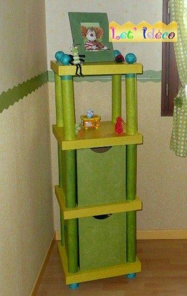 Этажерка в детскую из картона