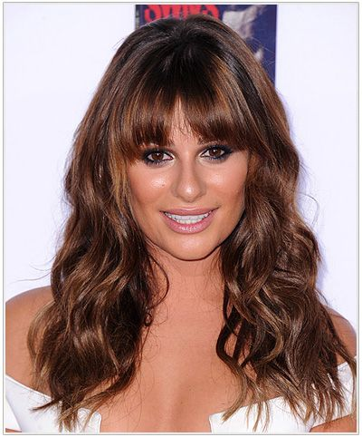 Click here to try on this Lea Michele Long Wavy Hairstyle.