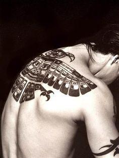Anthony Kiedis' back tattoo