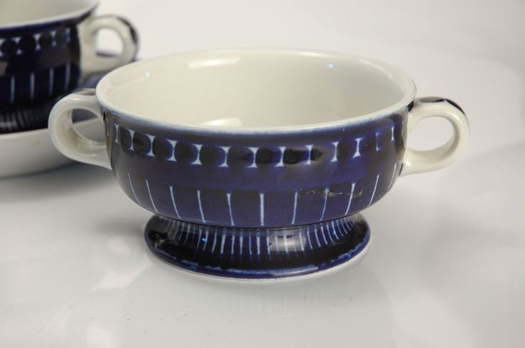 Arabia Finland Ulla Procope Valencia Pottery Mixed Group of Cups Soup Bowls   eBay