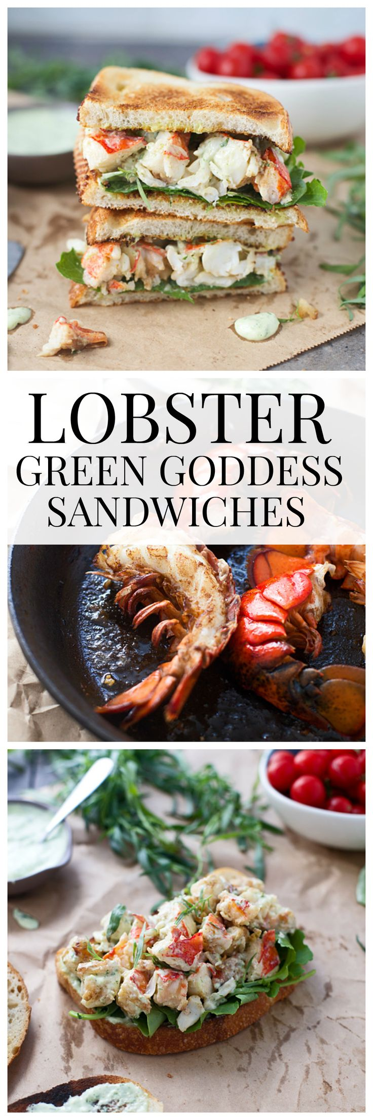 Green Goddess Lobster Sandwiches