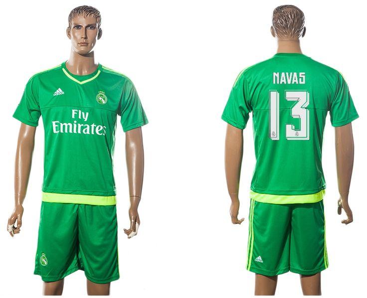 2016 Real Madrid green NAVAS 13 Goalkeeper