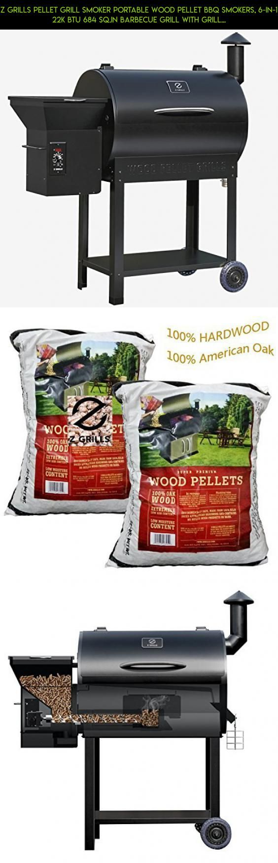 Z grills Pellet Grill Smoker Portable Wood Pellet BBQ Smokers, 6-in-1 22K BTU 684 Sq.in Barbecue Grill with Grill ,Smoke,Brake,Roast,Braise and BBQ-Free 2 Pack Wood Pellets #gadgets #racing #parts #tech #fpv #z #plans #grills #grill #products #drone #camera #technology #pellet #kit #shopping