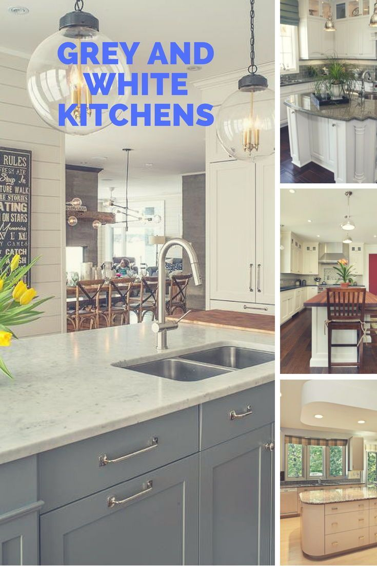 Gray And White Color In Kitchen Kitchen Design Decor Kitchen
