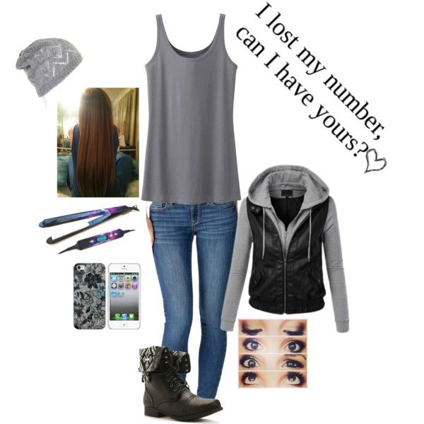 """""""Freshman Year Outfit #14"""" by lauren-h319 on Polyvore"""