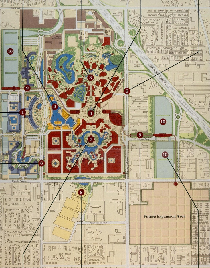 Plans for the original expansion of Disneyland