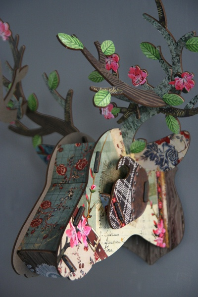 DIY stag head.... my boyfriend wants a real one... i say this one!