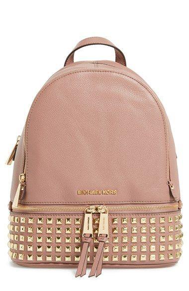 MICHAEL Michael Kors 'Small Rhea' Studded Backpack available at #Nordstrom  Diese und weitere Taschen auf www.designertaschen-shops.de entdecken