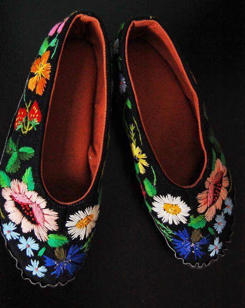 Muhu zapatillas bordadas por grynbergs en Etsy