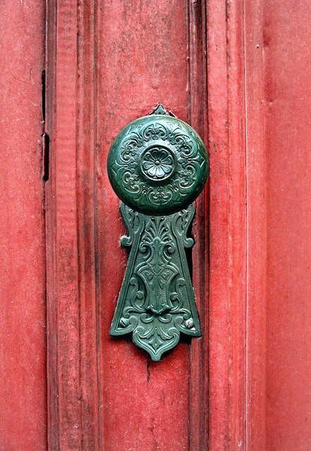 Engraved Door Knob and Lock Plate -- flower misc                                                                                                                                                                                 More