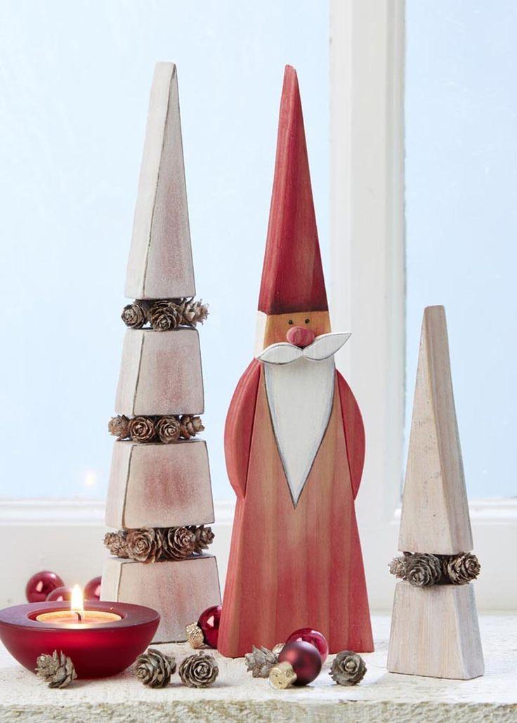 72 besten weihnachtsdeko aus holz bilder auf pinterest weihnachtsbasteln weihnachtliches und. Black Bedroom Furniture Sets. Home Design Ideas