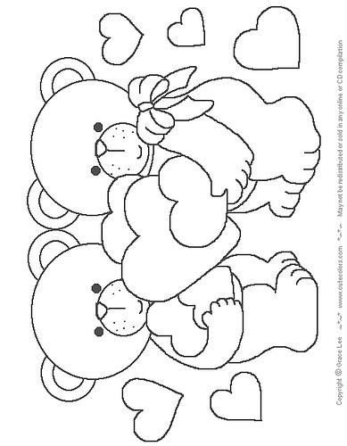 Ursinhos apaixonados: Animalitos Colorear, Arte Frances, Coloring