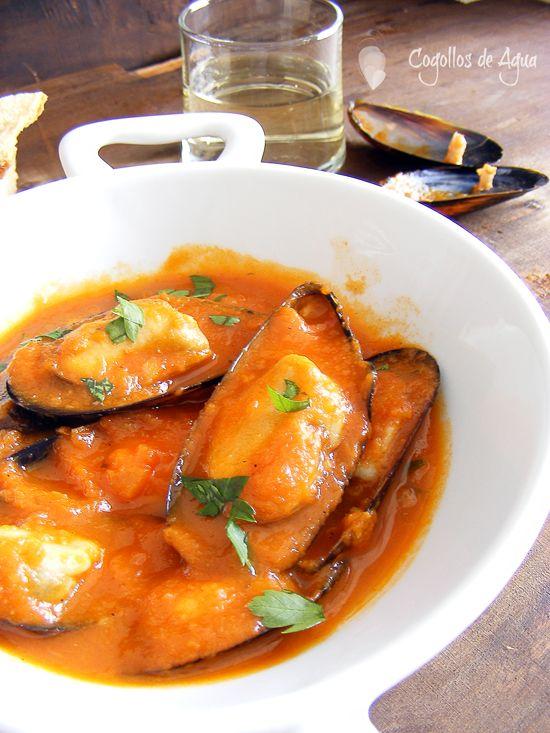 Mejores 187 im genes de almejas mejillones calamares for Cocinar mejillones en salsa
