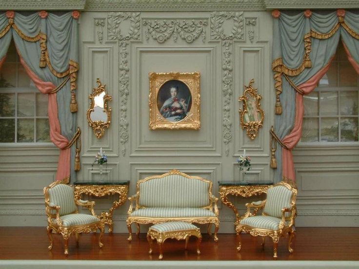 John Hodgson - great wall friezes (nice examples of his gilt furniture. Picture frame by JH too)
