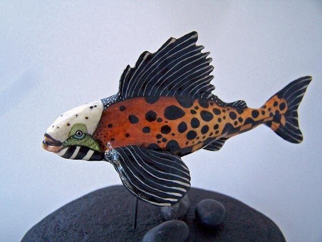 353 best images about pottery for the obsessed on for Ceramic fish sculpture