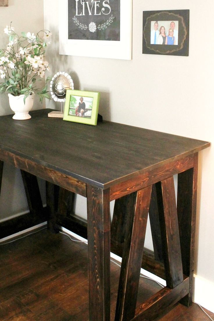 DIY desk made from old 2x4s