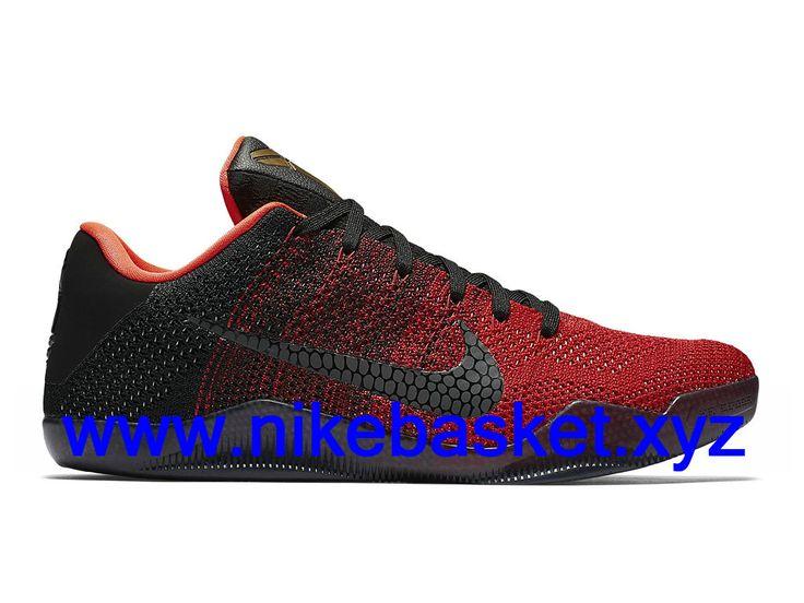 Nike Kobe 11 Elite Low Achilles Heel Homme chaussures pas cher basket Noir/Rouge 822675_670-1610060240 - Chaussures de basket Nike Offres Site   nikebasket.xyz
